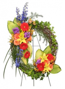 Sympathy Wreath On Easel
