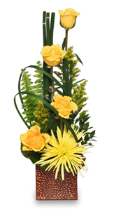 Good as Gold Flower Arrangement