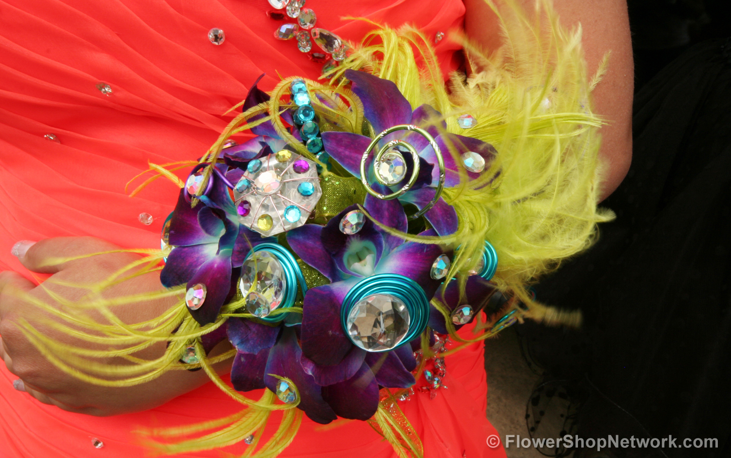 Prom inspiration fun funky style complementing colors prom corsage mightylinksfo