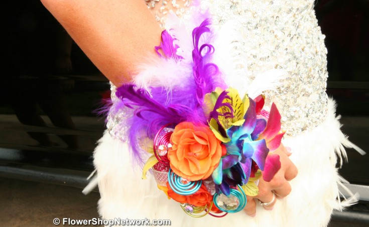 Colorful Prom Corsage
