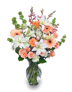 Peaches & Cream Flowers For Mother's Day