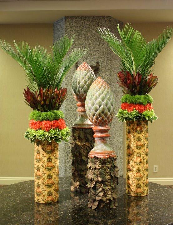 Pineapple design by Crossroads Florist in Mahwah NJ