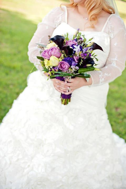 Colorful wedding bouquets by The Flower Shop, Pryor OK