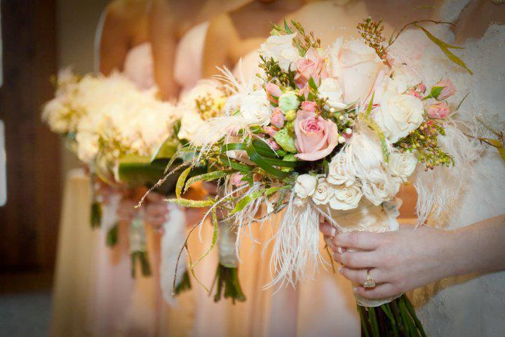 Classic wedding bouquets by The Flower Shop, Pryor OK