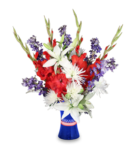 Red, White & True Blue - Patriotic Flower Arrangement