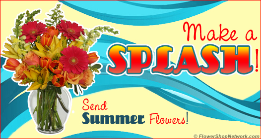 Make A Splash With Summer Flowers