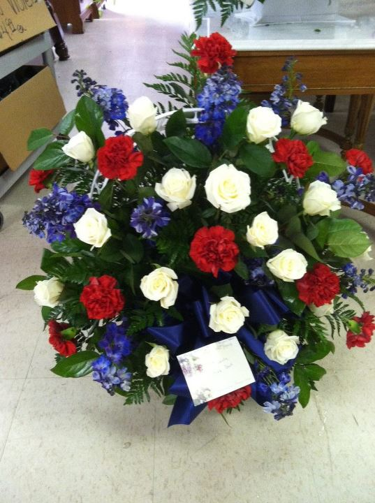Patriotic Funeral Flowers by Swanannoa Flower Shop, Swanannoa NC
