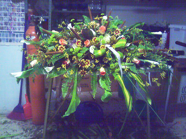 Funeral flowers by Swannanoa Flower Shop, Swannanoa NC