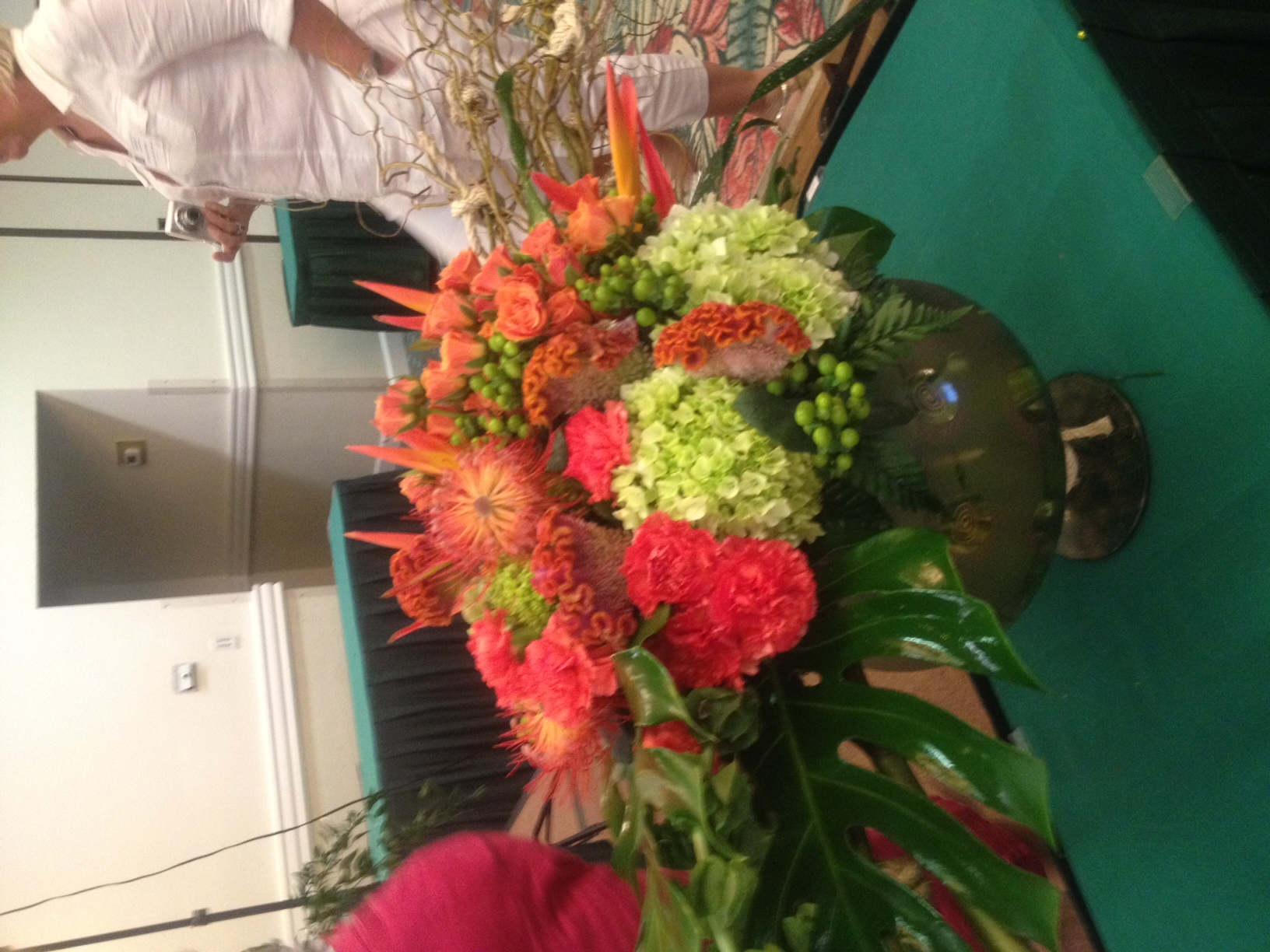 superior Crevasses Florist Part - 4: This arrangement features an abundance of interesting textures by mixing  flowers such as: cockscomb, ...