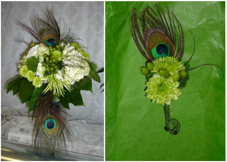 Peacock Wedding Flowers by Cheswick Floral