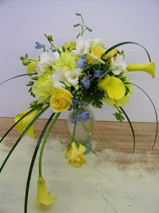 Yellow wedding bouquet by the Flower Patch & More