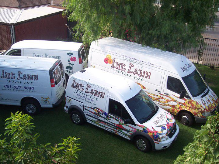 Log Cabin Florist - Spot Our Van!