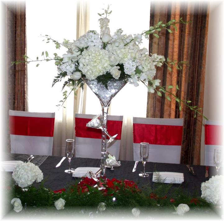 White Reception Flowers by MaryJane's Flowers & Gifts