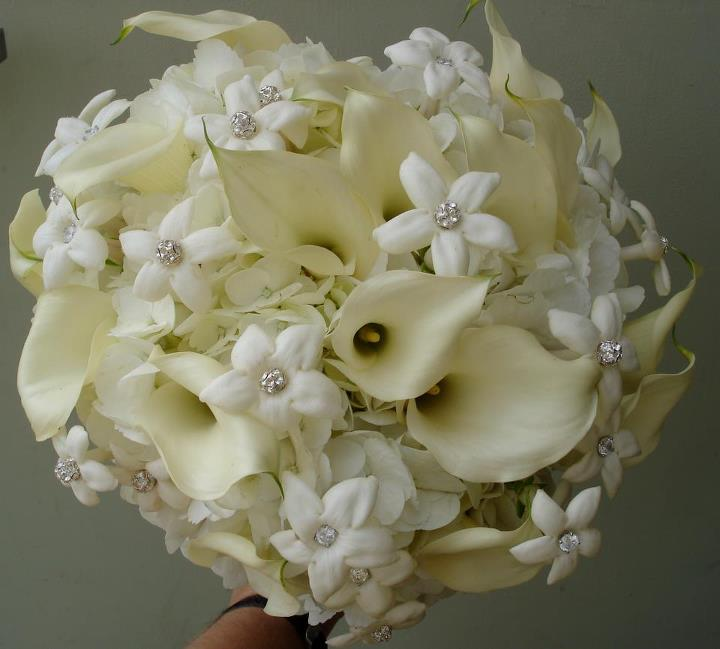 Classic white bouquet by The Petal Patch, McFarland WI