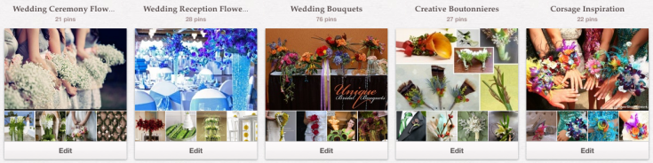 Flower Shop Network Wedding Boards on Pinterest