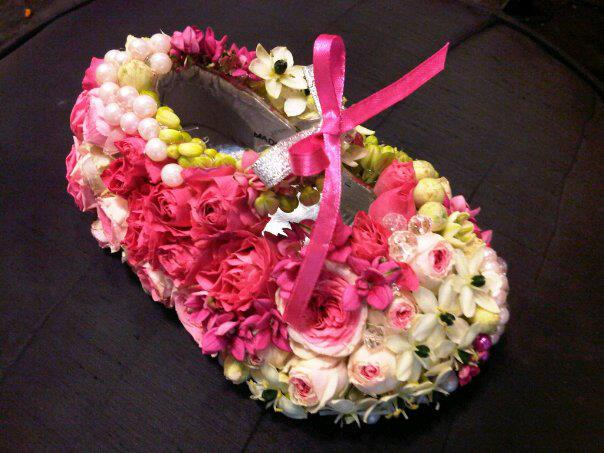 Baby shower shoe by Bliss Flowers, Jagna, Bohol, Philippines