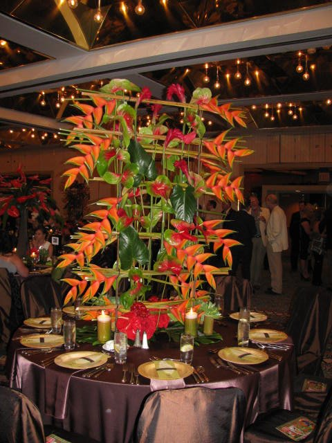 AIFD Induction Dinner 2012 - Tropical Centerpieces