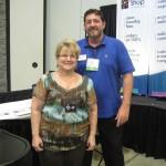 FSN's Joe Hays with the Arkansas Florist Association's President, Jan Diederich