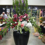 Large floral display in the trade show by Larry Bates of The Arrangement, Hot Springs AR