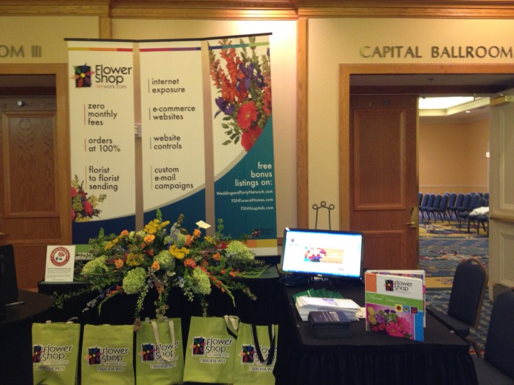 Flower Shop Network Trade Show Booth