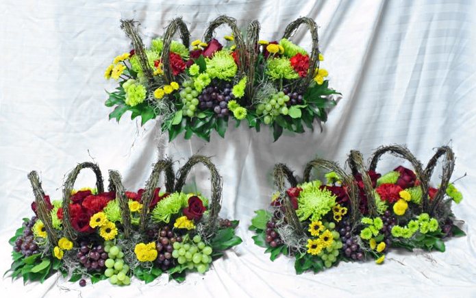 Grapevine Centerpieces by Crossroads Florist, Mahwah NJ