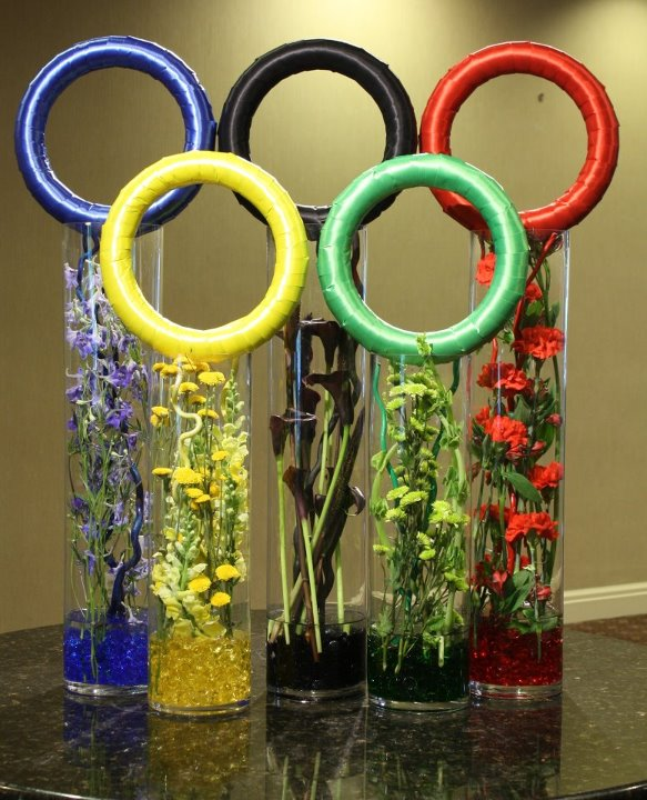 Olympic-inspired Flowers By Crossroads Florist in Mahwah NJ