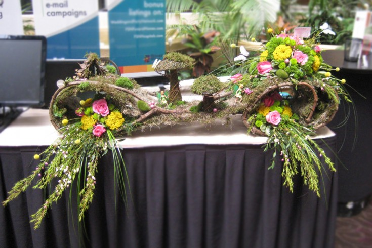 Fairy Garden Booth Flowers at the North Carolina State Florist Association Convention
