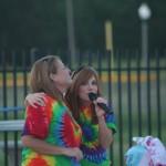 Karaoke singing by the pool!