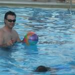 Steve with his mermaid daughter.