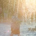 Kier splashing in the sunset!