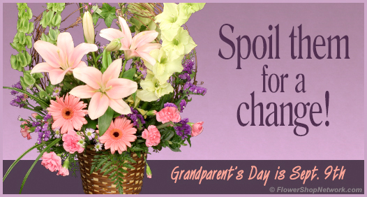Grandparent's Day is September 9th. Send flowers!