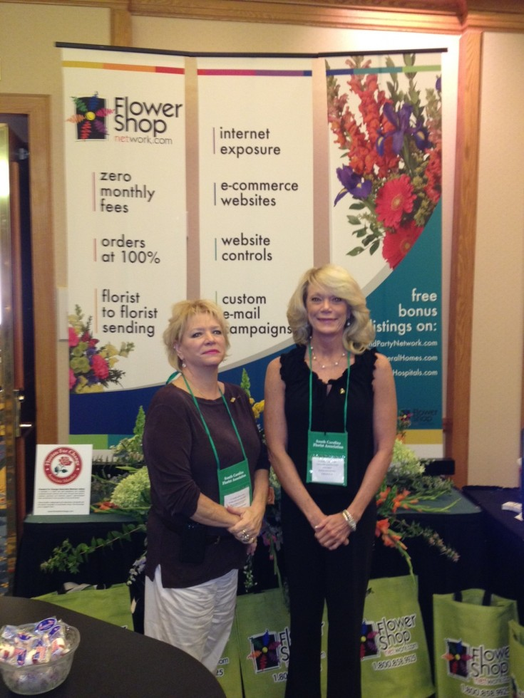FSN's Judy with Madeline McDonald of Plant Peddler Flower Shoppe