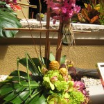 Tropical flowers with orchids at the North Carolina State Florist Convention