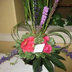 Beautiful arrangement of flowers at the North Carolina State Florist Convention