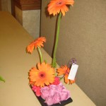 Playful flower arrangement with Gerberas at the North Carolina State Florist Convention