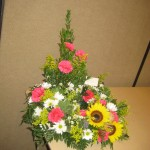 Flower arrangement at the North Carolina State Florist Convention