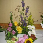 Funeral flower arrangement at the North Carolina State Florist Convention