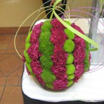 Flower orb at the North Carolina State Florist Convention