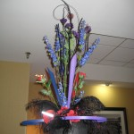 Unusual hat flowers at the North Carolina State Florist Convention