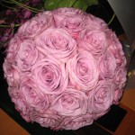 Rose sphere flowers at the North Carolina State Florist Convention