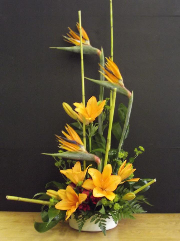 Orange flower arrangement by Old Dominion Florist, Tazewell VA