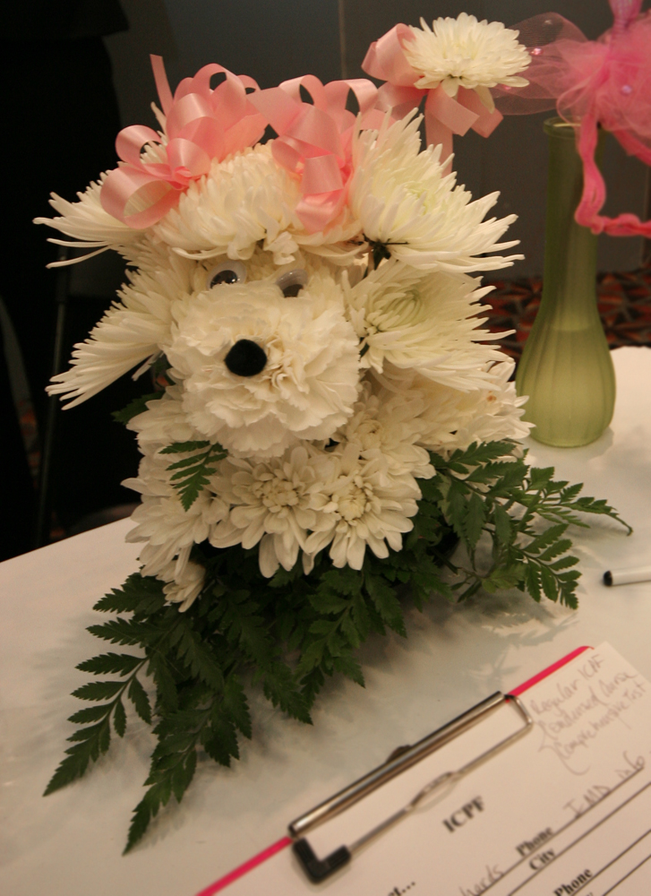 Puppy Flowers at the Illinois State Florist Convention