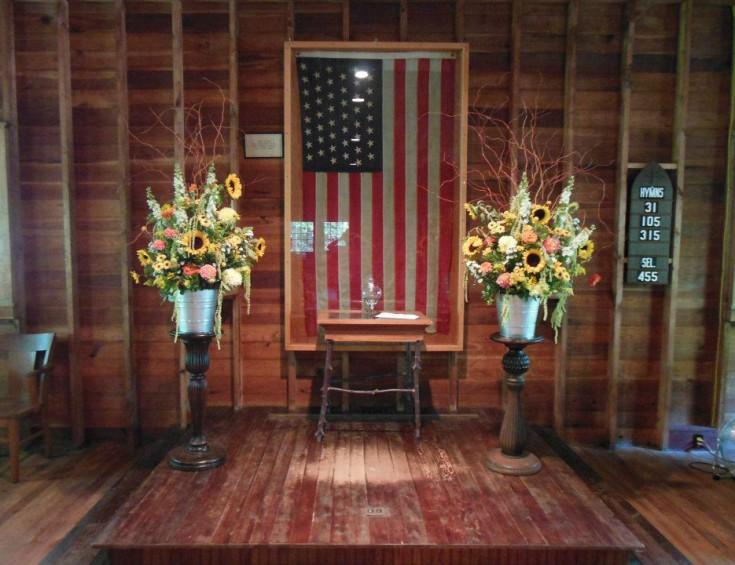 Rustic Wedding - Alter Flowers