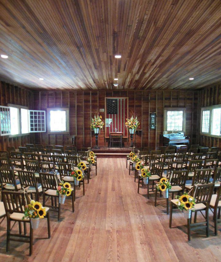 Rustic Wedding - Aisle Flowers