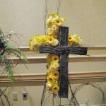 Unique Double Cross Funeral Flowers at the Tennessee State Florist Convention