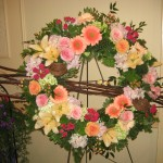 Spring Funeral Wreath at the Tennessee State Florist Convention