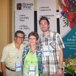 Len & Debbie Wlodarski with Michael Starkey (right) of Hofman Florist, Chicago Heights IL