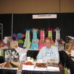 Gift Box Corporation of America at the Trade Show. (They do our bags!)