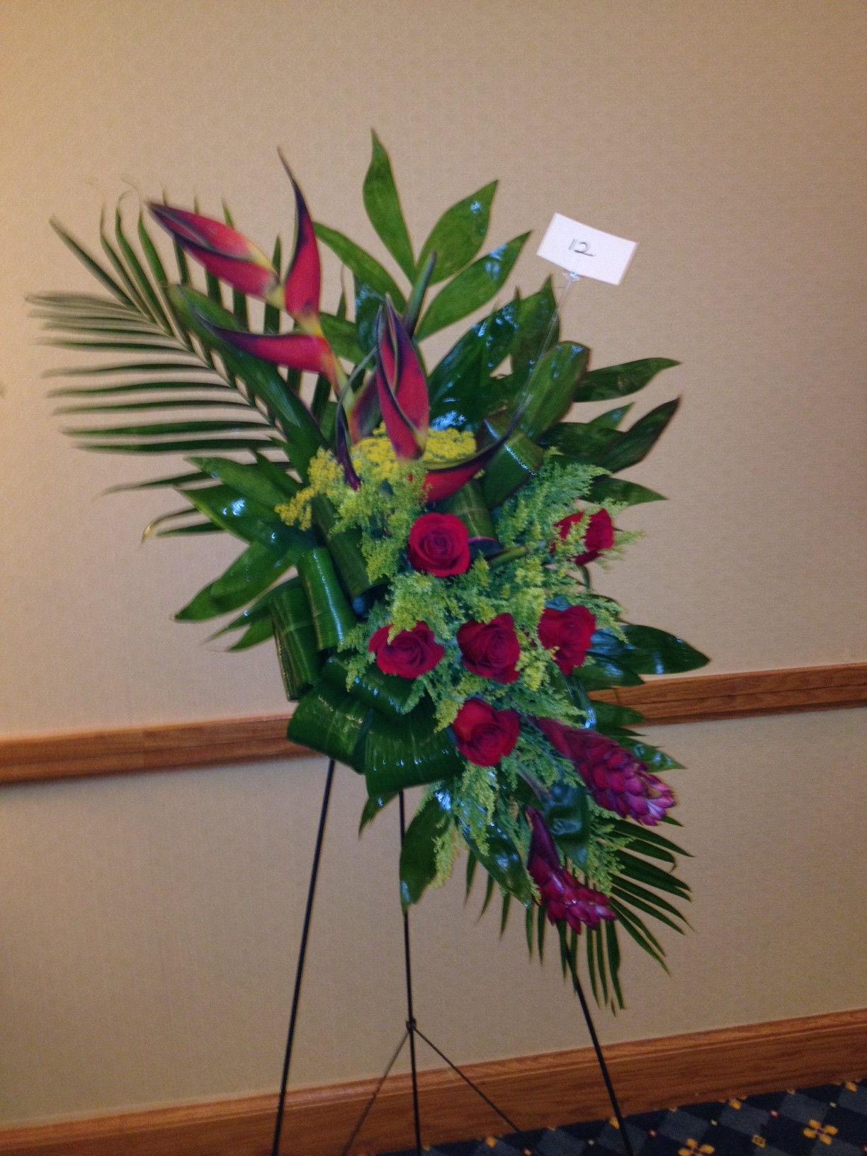South carolina florist association convention 2012 tropical funeral flower arrangement izmirmasajfo Image collections