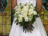 Mixed white rose bouquet